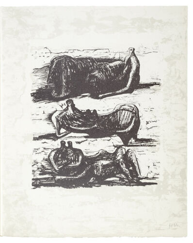 Henry Moore, 'Poetry: Three Reclining Figures ', 1973