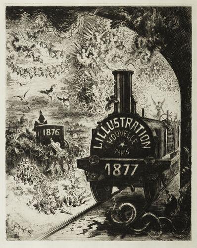 Félix Hilaire Buhot, 'Frontispiece pour L'Illustration Nouvelle 1877 ', 1877