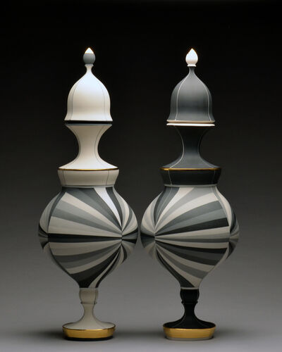 Peter Pincus, 'Black and White Vessels', 2015