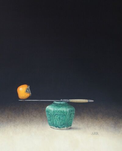 Alison Rankin, 'Green Ginger Jar with Knife and Persimmon', 2019
