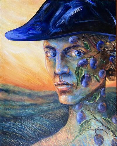 Matteo Neivert, 'Blue Man, A Nod To Magritte', 2021