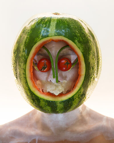Martine Gutierrez, 'Masking, Watermelon Mask, p57 from Indigenous Woman', 2018