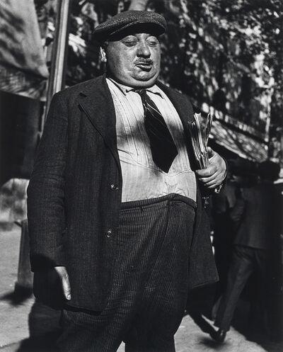 Lisette Model, 'Newspaper Salesman, Paris', 1938