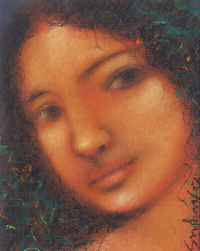 "Suhas Roy, 'Radha, Pastel on Board by Modern Artist ""In Stock""', 2007"