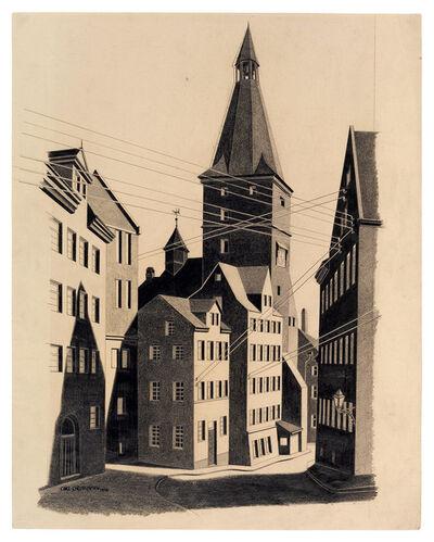 Carl Grossberg, 'Straße mit Kirchturm', 1926