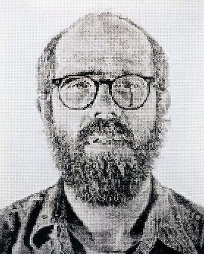Chuck Close, 'Self Portrait/White Ink', 1978