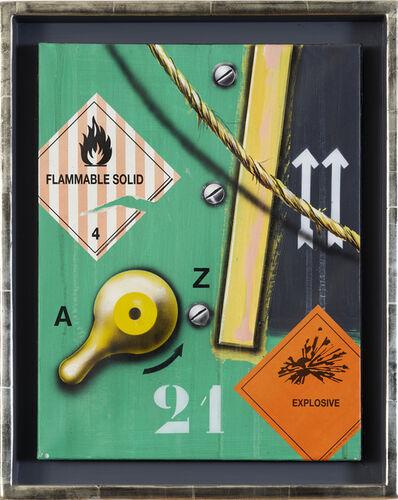 Peter Klasen, 'Explosive I 2 Flêches fond vert  ', 1995