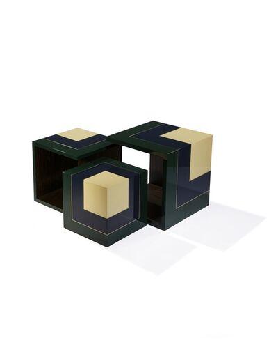Hervé Langlais, 'Homage to the cube side tables (S, M, L)', 2016