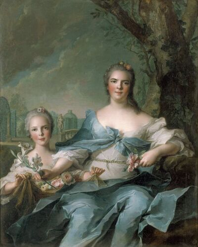 Jean-Marc Nattier, 'The Duchess of Parma  and her Daughter Isabelle', 1750
