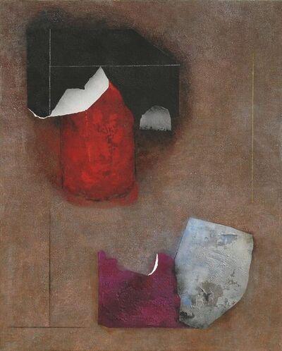 Giuseppe Santomaso, 'Il Rosso Racconta', 1985