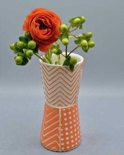 Kelly Justice, '13.Orange Bud Vase', 2021