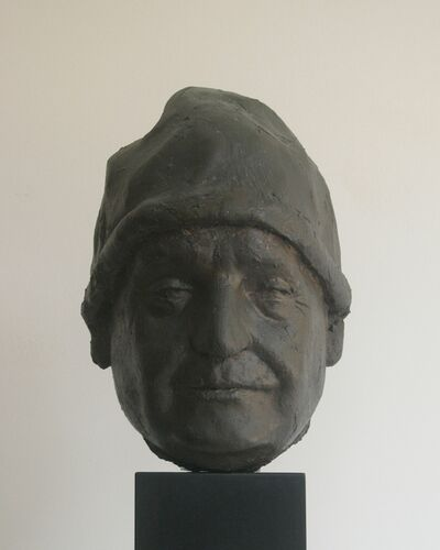 Giacomo Manzù, 'Head of Pope John XXIII', 1963