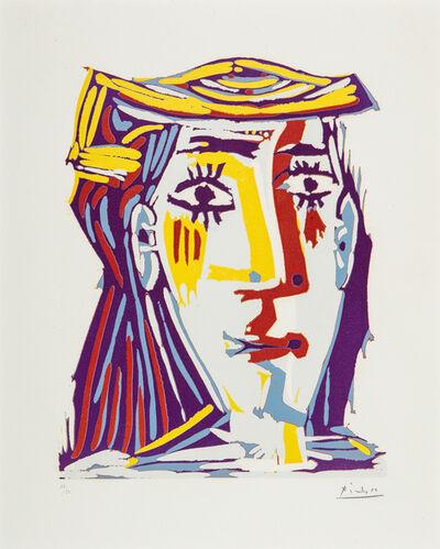 Pablo Picasso, 'Femme Au Chapeau (Portrait De Jacqueline) ', 1962