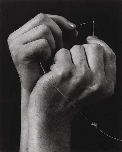 Anton Bruehl, 'Hand Threading Needle', circa 1930-printed circa 1960