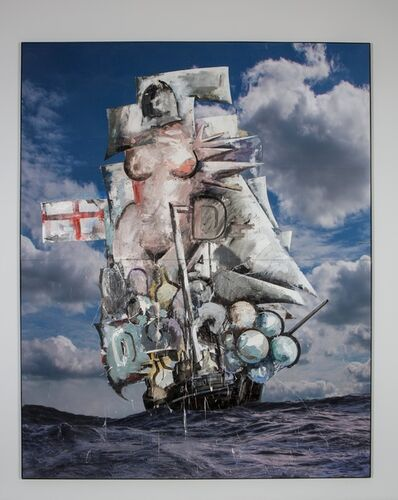 Marcus Harvey, 'Untitled (Big Galleon)', 2016