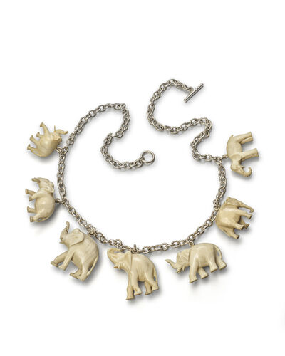 Peter Blake, 'Collage Necklace, Elephants', 2010