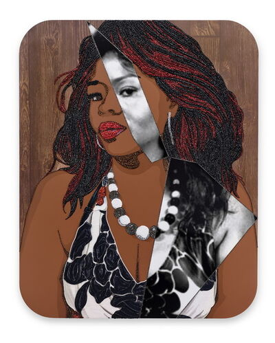 Mickalene Thomas, 'Portrait of Din #5', 2016
