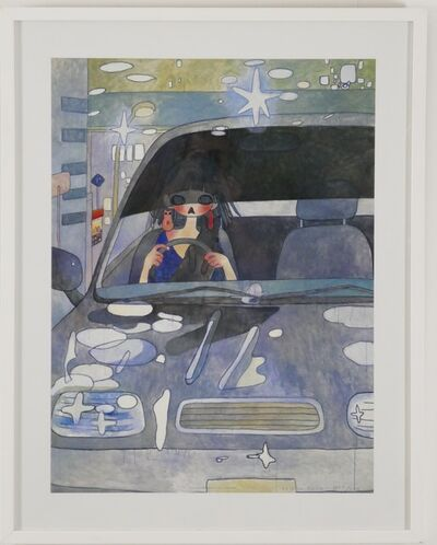 Aya Takano, 'Driving Girl with Cat', 2006