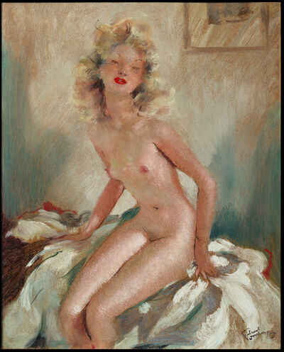 Jean Gabriel Domergue, 'Nu assis', ca. 1950