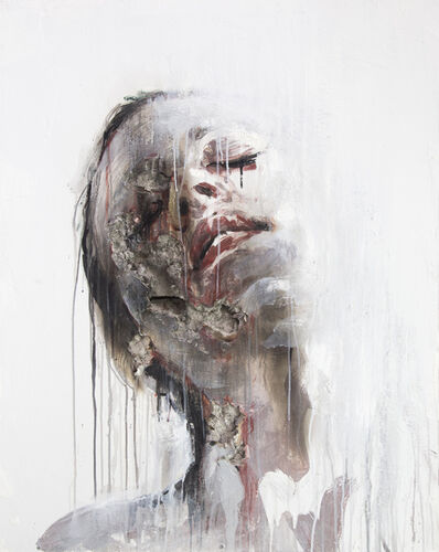 juan miguel palacios, '3D Portrait Painting of Woman: 'Wounds CLXXIII'', 2019