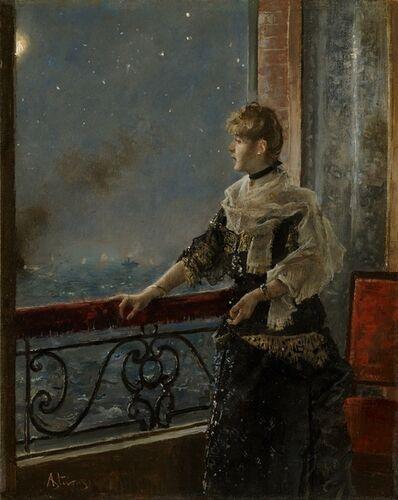 Alfred Stevens, 'Moonlight (Au clair de la lune)', ca. 1885