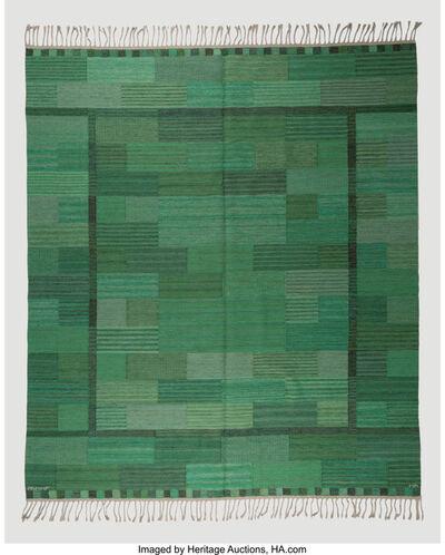 Marianne Richter, 'Fasad Gron Flat-Weave Carpet', circa 1950