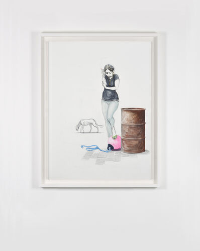 Charles Avery, 'Untitled (Smoking girl with Buoy)', 2020