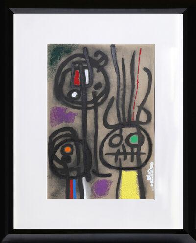 Joan Miró, 'Cartones 17: Personnage et Oiseau', 1965