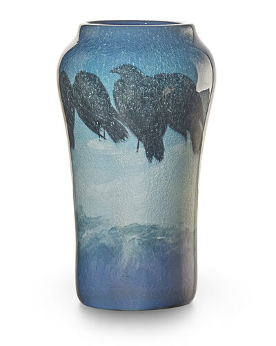Edward T. Hurley, 'Iris Glaze vase with rooks, snow, and mountains, Cincinnati, OH', 1903