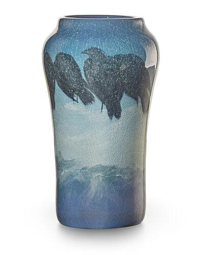 Edward T. Hurley, 'Iris Glaze vase with rooks, snow, and mountains, Cincinnati, OH', 1903