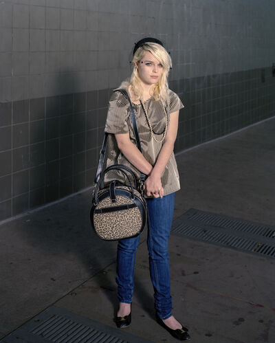 Doug Hall, 'Girl with the Leopard-Skin bag, San Francisco', 2010