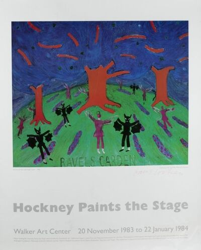 David Hockney, 'Paints The Stage', 1984