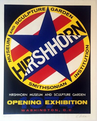 Robert Indiana, 'HIRSHHORN MUSEUM & SCULPTURE GARDEN OPENING EXHIBITION (SIGNED & NUMBERED) ', 1974