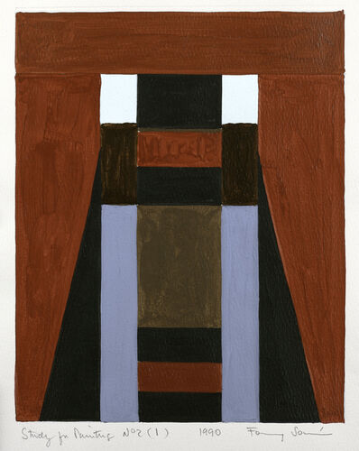 Fanny Sanin, 'Study for a painting No. 2 (1)', 1990