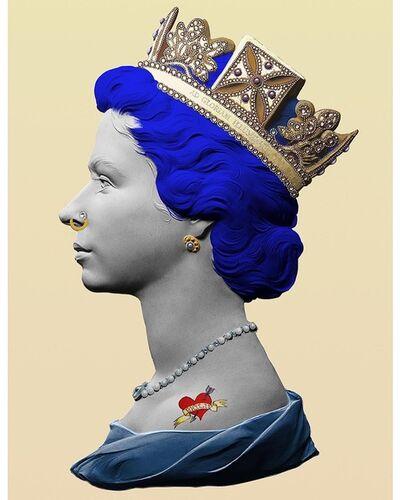 Illuminati Neon, 'Punk Queen  (Blue)', 2020
