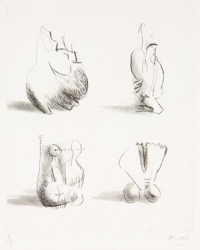 Henry Moore, 'Four Sculpture Motives', 1971