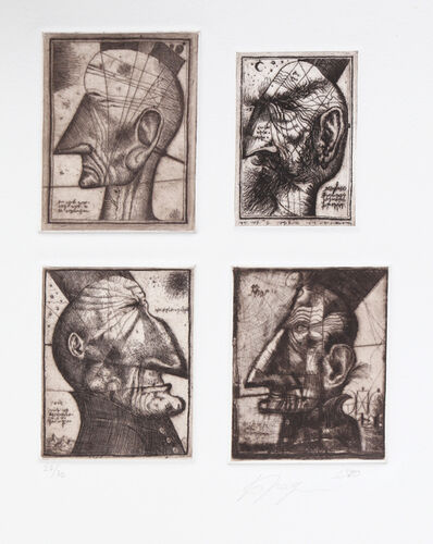 Alexander Brodsky, 'Four head Composite', 1990