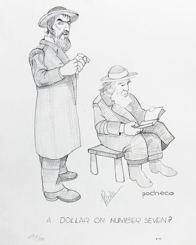 Ferdie Pacheco, 'A DOLLAR ON NUMBER SEVEN? (JUDAICA ART)', 1978