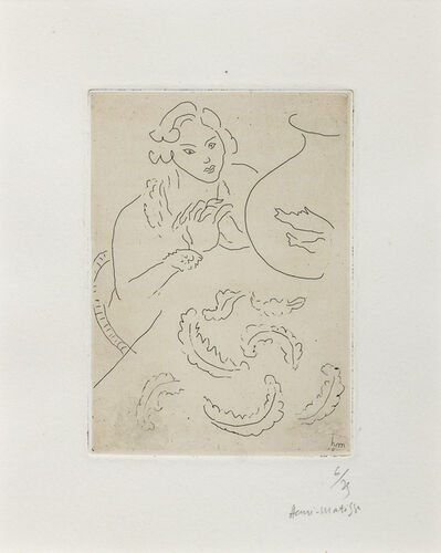 Henri Matisse, 'Figure Mains jointes et Nappe a Decor persan', 1929