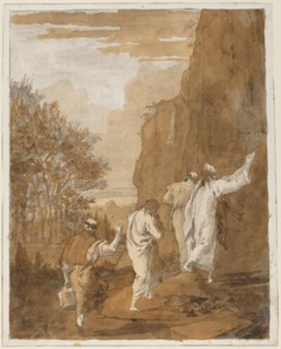 Giovanni Domenico Tiepolo, 'Christ Leading Peter, James, and John to the High Mountain for the Transfiguration', 1770s/1780s