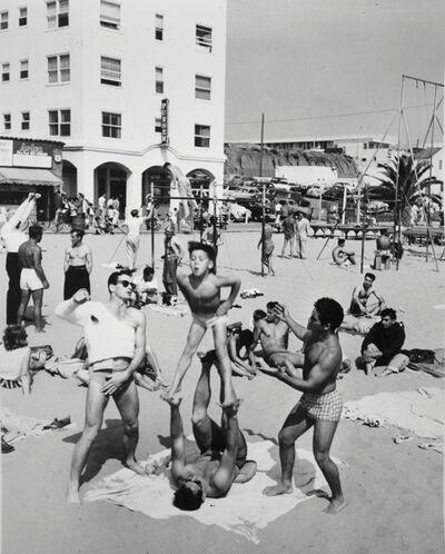 Larry Silver, 'Boy Performing, Muscle Beach Santa Monica, CA', 1954