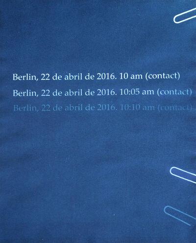 François Bucher, 'Contact. Berlín, 22.04.2016', 2016