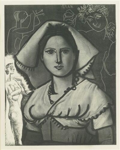 Pablo Picasso, ' L'Italienne (d'aprés le tableau de Victor Orsel) (1st state of 2)', 1953