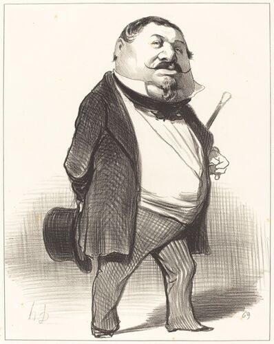 Honoré Daumier, 'Prince Lucien Murat', 1849