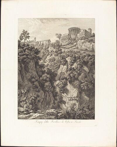 Albert Christoph Dies, 'Tempj della Sibilla e Vesta a Tivoli', 1798
