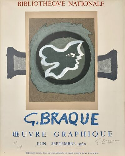 Georges Braque, 'Bibliotheque Nationale Poster', 1960