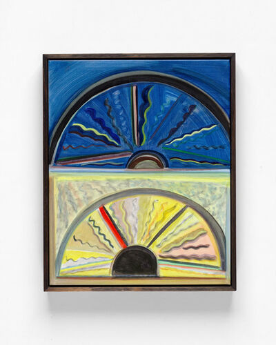 Emily Ferretti, 'Steering wheel at night and day', 2019