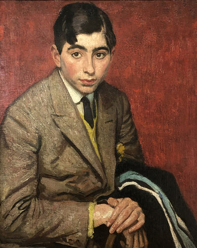 Dame Laura Knight, 'Portrait of Robert Newton age 15', 1920
