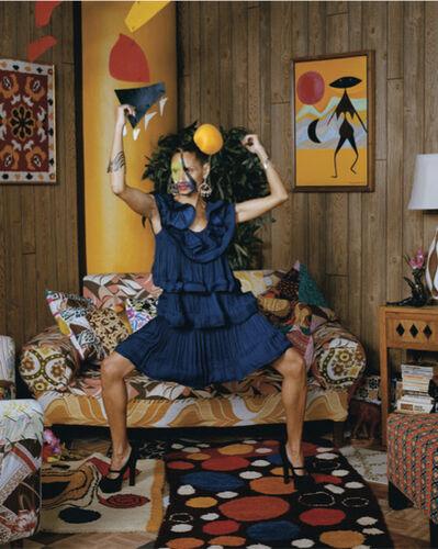 Mickalene Thomas, 'Calder Series #2: Racquel', 2013