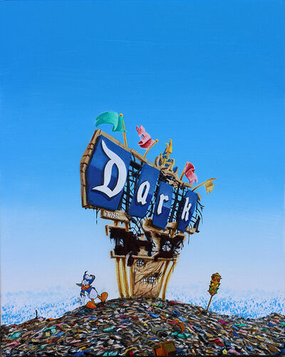 Jeff Gillette, 'Disneyland Sign Dark', 2018